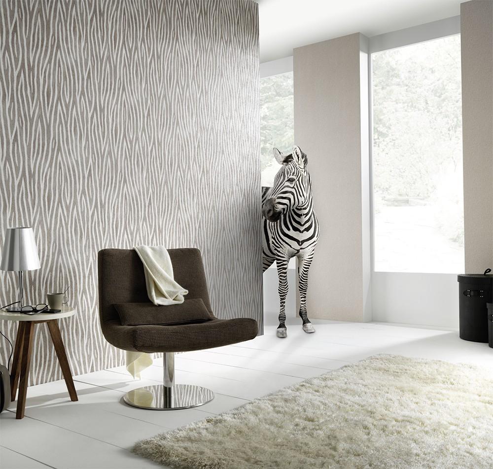 non woven wallpaper zebra black white wallpapers erismann sambesi 5905 15 590515. Black Bedroom Furniture Sets. Home Design Ideas
