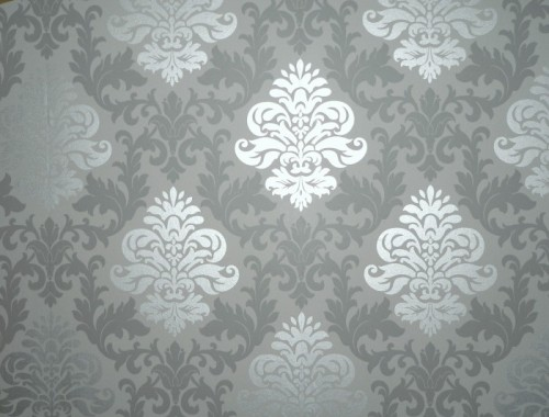 Tapete barock ornamente rasch lounge grau glanz 148213 for Silber tapete
