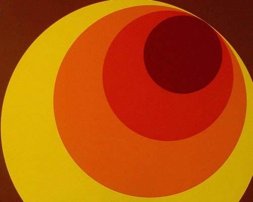 Retro Tapete Orange Braun : Home ? Tapeten ? Bestseller